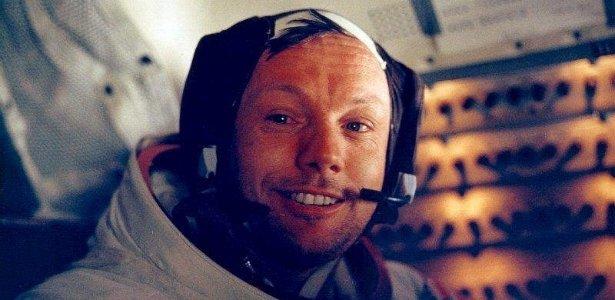 Neil Armstrong no módulo lunar Apollo 11, logo após pisar na lua; <B>clique e veja imagens do astronauta</b>