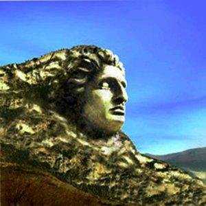 Desenho do rosto de Alexandre, o Grande