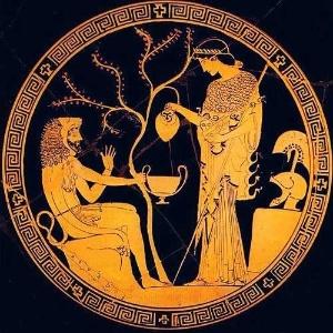 Ilustração de Atena, deusa grega