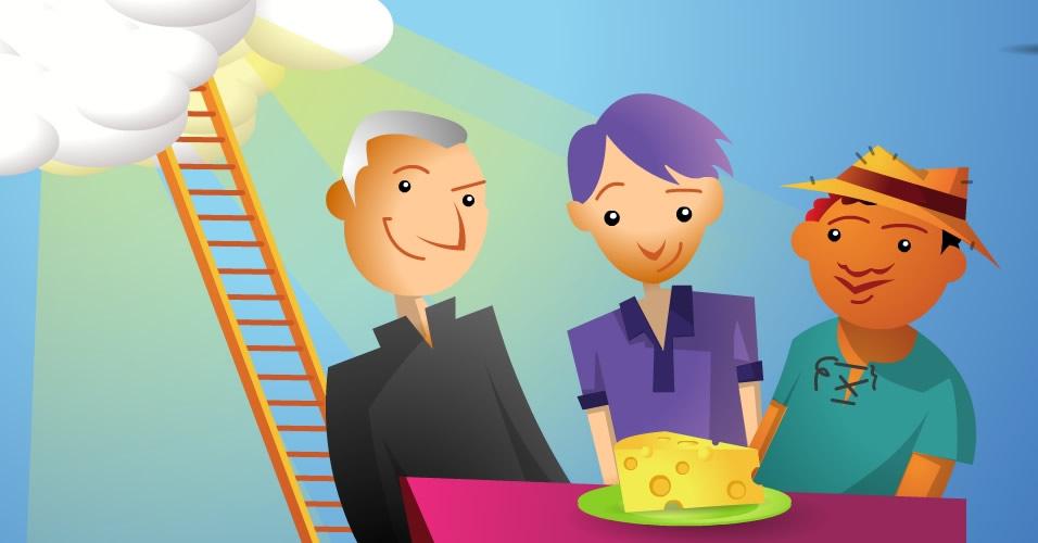 O padre, o estudante e o caboclo