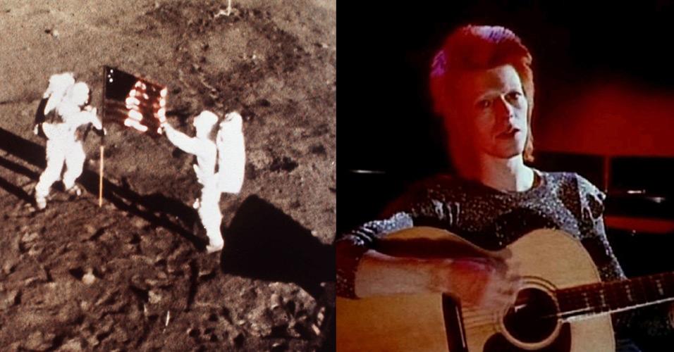 Na voz de Bowie, a Inglaterra ouviu a chegada do homem à Lua