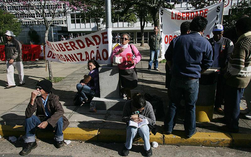 Faixas da greve
