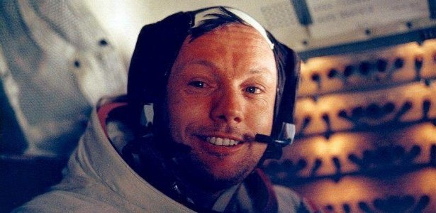 O astronauta Neil Armstrong: lembranças da viagem à Lua