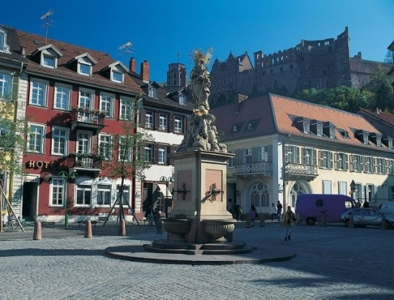 Mercado de cereais na cidade de Heidelberg