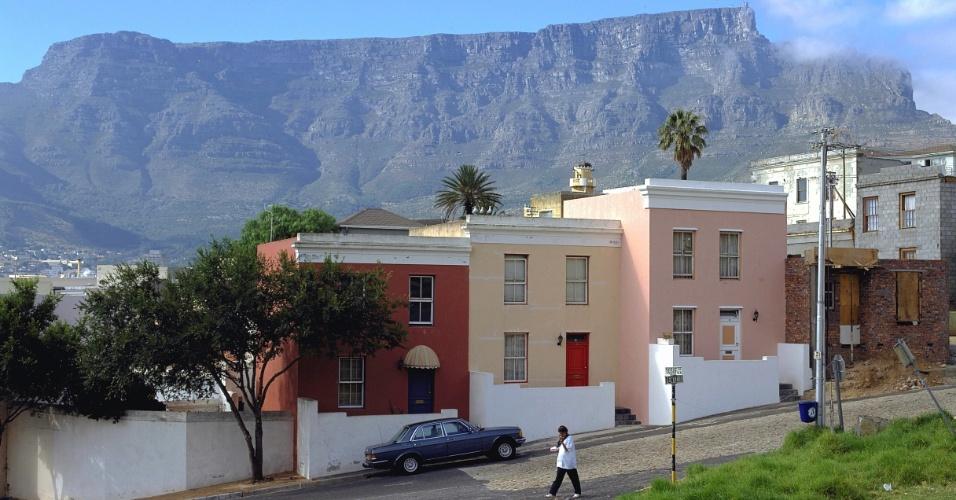 Bo-Kaap, bairro de origem muçulmana, oferece muitas opções de comida Kape-Malay, na Cidade do Cabo, África do Sul