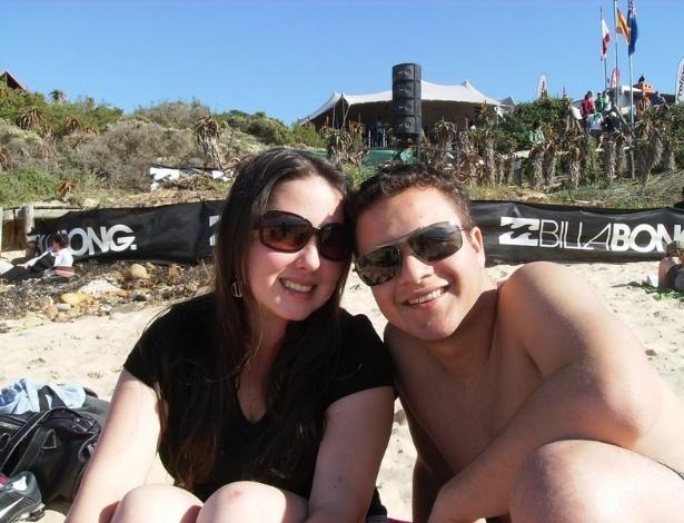 Juliana Martins em Jeffrey's Bay (baía de Jeffrey), praia de surfistas que está entre as preferidas dos intercambistas