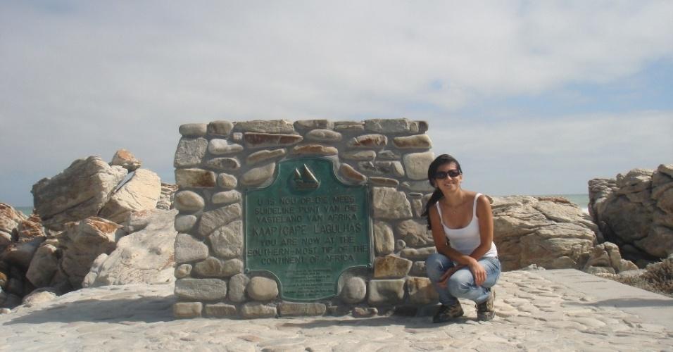 Regina Junko no encontro dos oceanos Índico e Atlântico