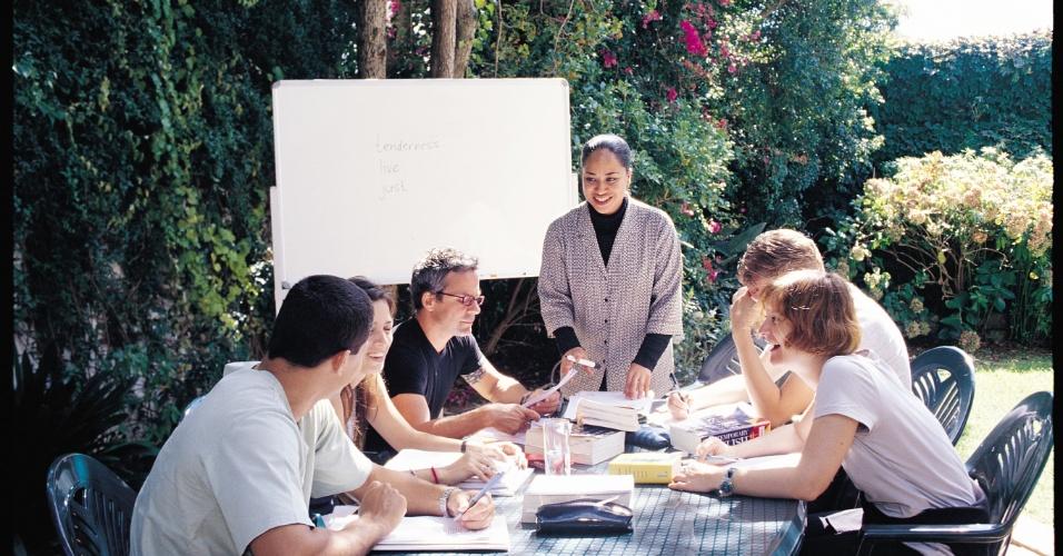 Sala de estudos em escola de inglês na África do Sul.