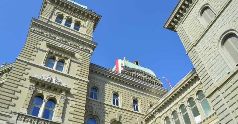 Detalhe do prédio do palamento suíço, em Berna
