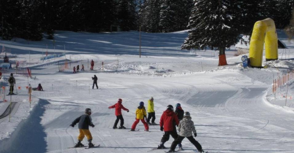 Estação de esqui na Suíça